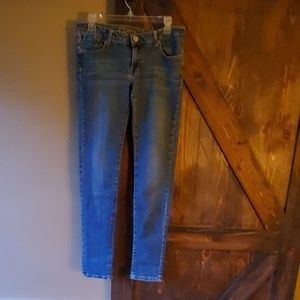 Jeans real long for tall person.